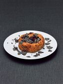 Döppekooche with truffles (German potato cake with bacon made in a pot, Rhineland cuisine)
