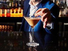 Espresso martini in a bar