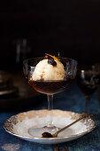 Sherry Affogata with vanilla ice cream