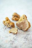 White alba truffles from Italy (tuber magnatum)