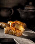Turkish baklava in a rustic style