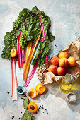Colourful chard and apricots