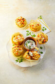 Savory sweet potato muffins with minced meat and corn