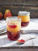 Elderflower jelly with pears and cinnamon