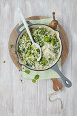 Herb risotto with parmesan