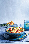 Smoked cheddar and chorizo ovenbaked risotto