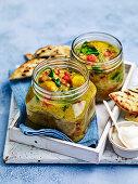 Curried lentil vegie soup