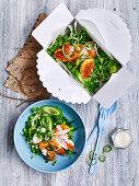 Sesame chichen katsu salad 'to go'