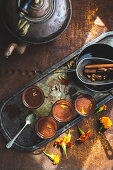 Hot ginger chocolate chai