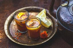 Ginger, lemon and honey chai tea