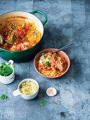 Sauerkraut, barley and eisbein stew