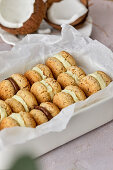 Healthy low carb biscuits made from coconut and almond flour