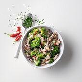 Spicy calamari and broccoli sauce