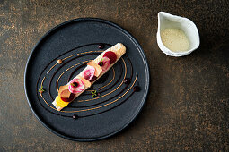 Sole with chioggia beets