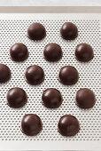 Chocolate brandy pralines