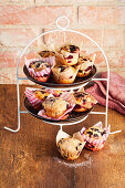 Blueberry muffins with spelt flour