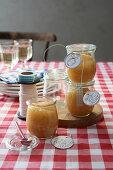 Homemade quince mustard chutney