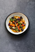 Turmeric and root vegetable medley with wild rice