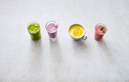 Four types of healthy power drinks