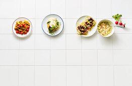 Four types on breakfast eggs