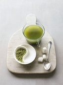 Matcha green tea with sugar