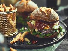 Am Italian-style smash burger