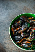 Mussels in bowl