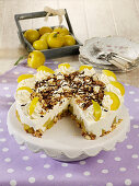 Muesli cake with mirabelle plums