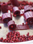 Cranberry fruit leather