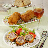 Baked veal roulade