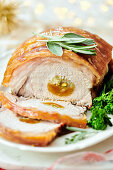 Roast Loin Of Pork with Apricots and Port