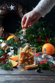 Tuiles cookies for Christmas