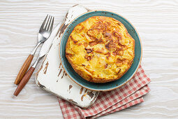 Homemade Spanish tortilla - omelette with potatoes