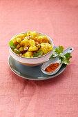 Cauliflower curry with hazelnuts