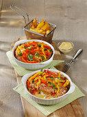 Kartoffel-Mett-Auflauf mit Paprika