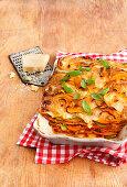Kürbislasagne mit Parmesan