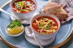 Chorba (Soup with vegetables and lamb, North Africa)