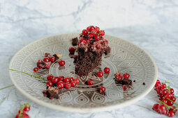 Redcurrant brownies