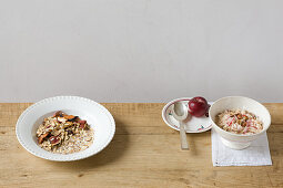Basic muesli and Bircher muesli