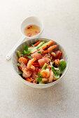 Asian prawn salad with pomelo