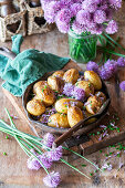 Potatoes with chives