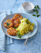 Fish rissolles with puree