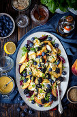 Beetroot and mozzarella salad with fruits