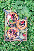 Berry skillet pies
