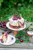 Cherry meringue cake