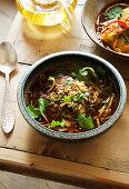 Beef Thai noodle soup