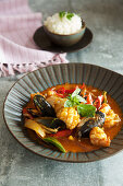 Mixed seafood Thai curry
