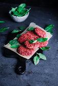 Beetroot and quinoa patties