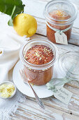 Lemon cake in a jar