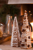 Decorated gingerbread trees